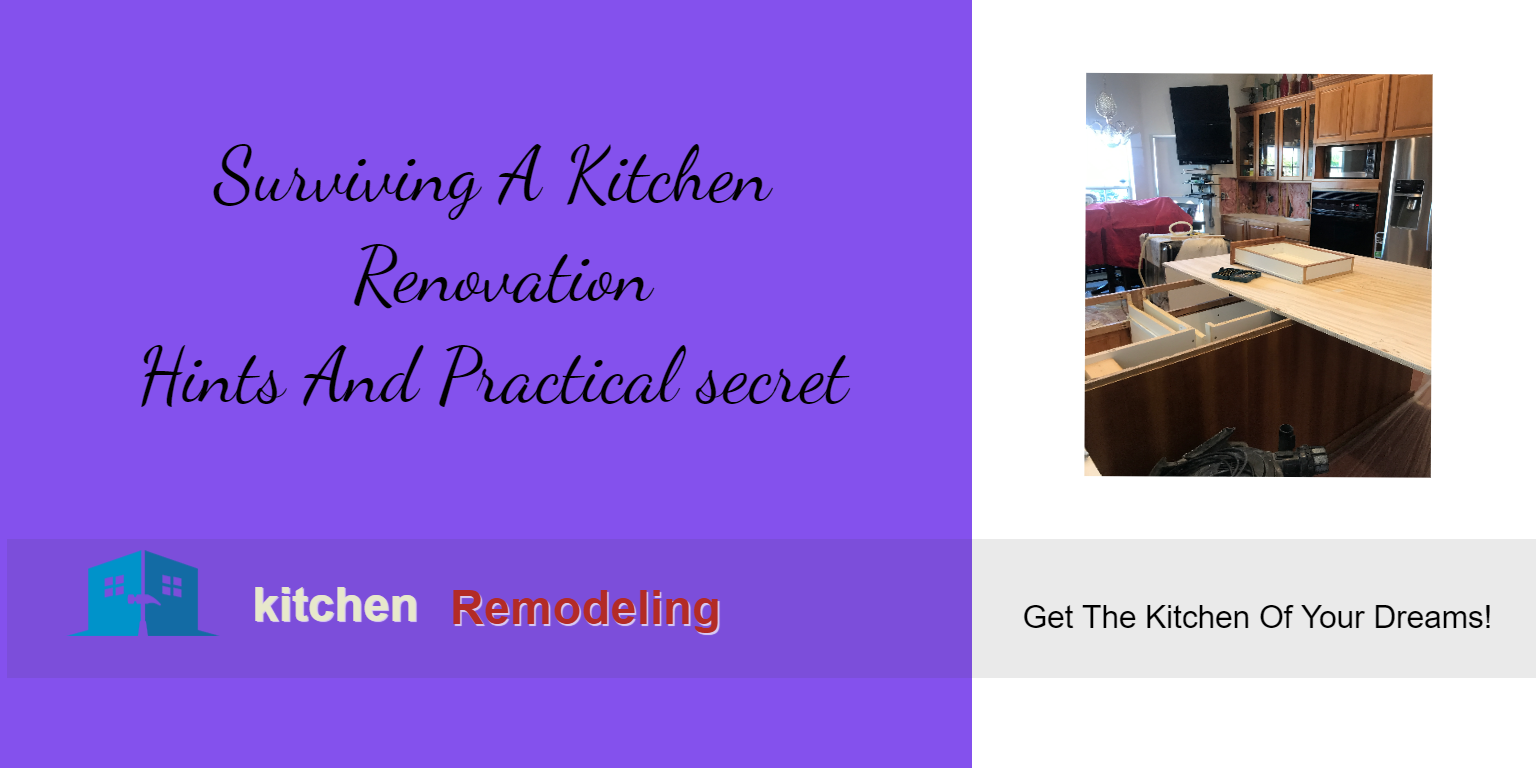 Surviving A Kitchen Renovation
