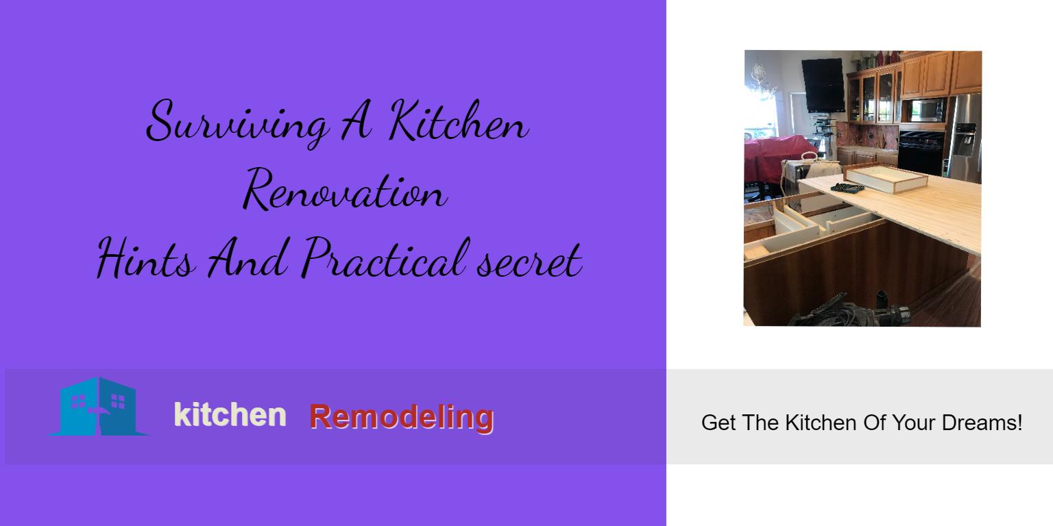 Surviving A Kitchen Renovation